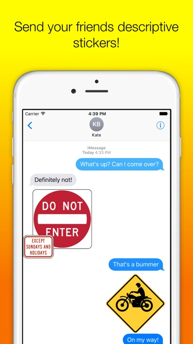 US Road Signs for iMessage screenshot one