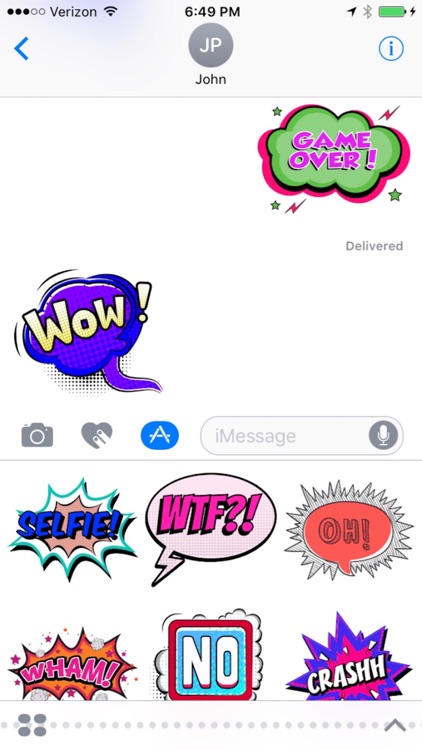 Comic Talks Stickers for iMessages