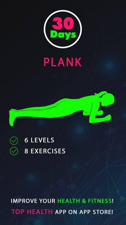 30 Day Plank Fitness Challenges Pro