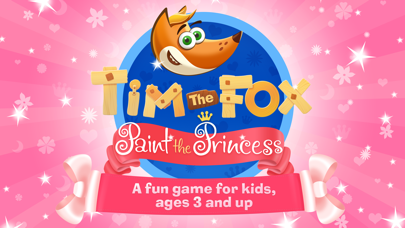 Tim the Fox - Paint the Princess coloring for girl
