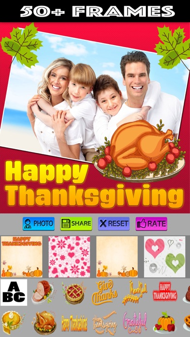 Thanksgiving Photo Frames and Stickers screenshot one