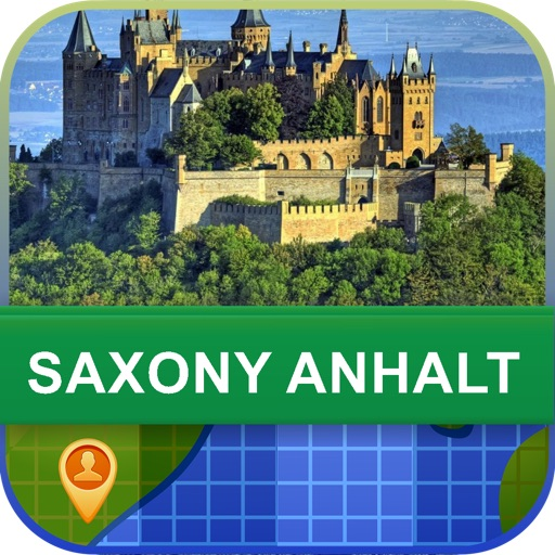 Saxony Anhalt, Germany Map - World Offline Maps