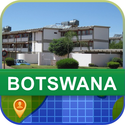 Offline Botswana Map - World Offline Maps