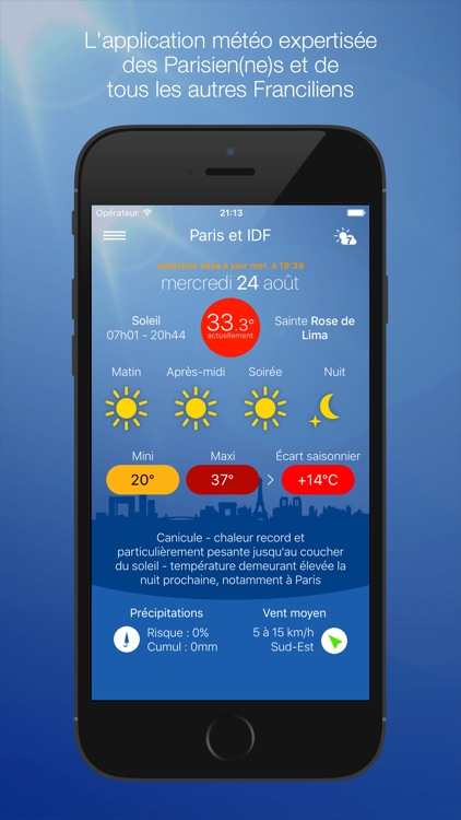 Météo Paris screenshot-0