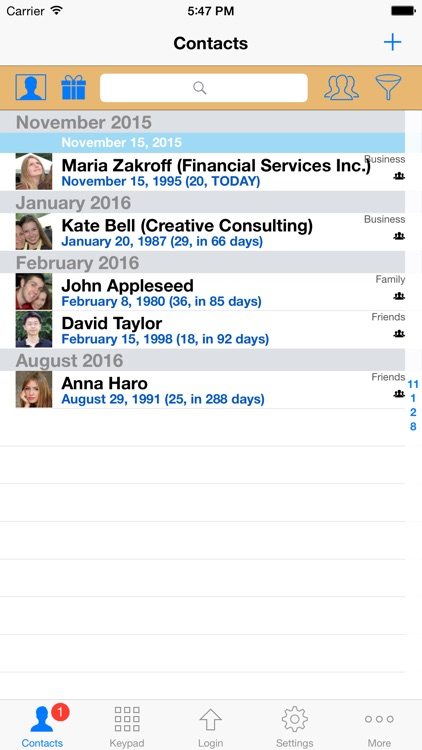 ContactsPro for iPad