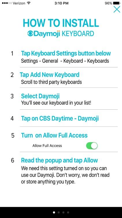 CBS Daytime Daymoji Keyboard screenshot-3