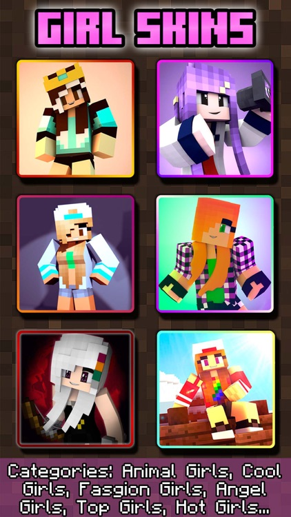 GIRL SKINS FOR MINECRAFT PE ( POCKET EDITION )