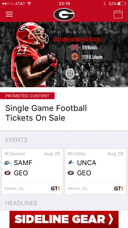 Georgia Bulldogs Gameday LIVE screenshot-1