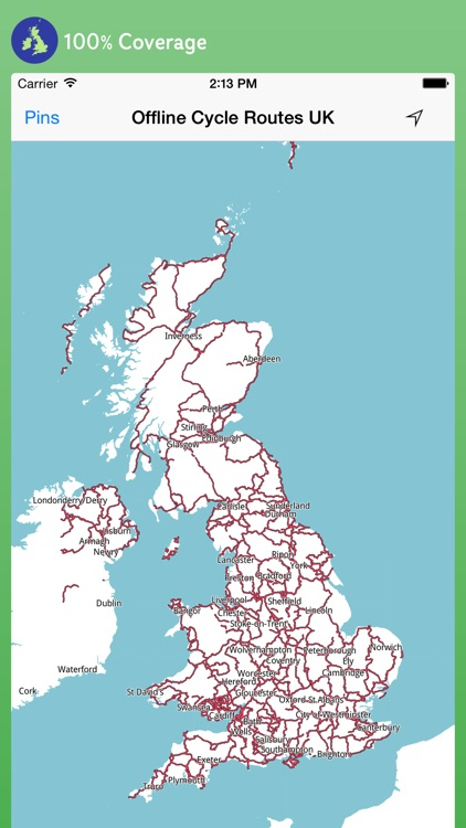 Offline Cycle Routes UK - Maps screenshot-0