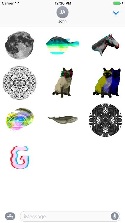 Glitchy Sticker Pack I