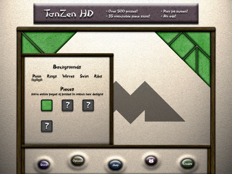 TanZen HD Free - Relaxing tangram puzzles screenshot-2