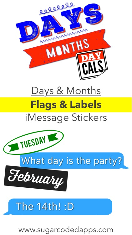 DayCals: Days & Months Calendar Stickers