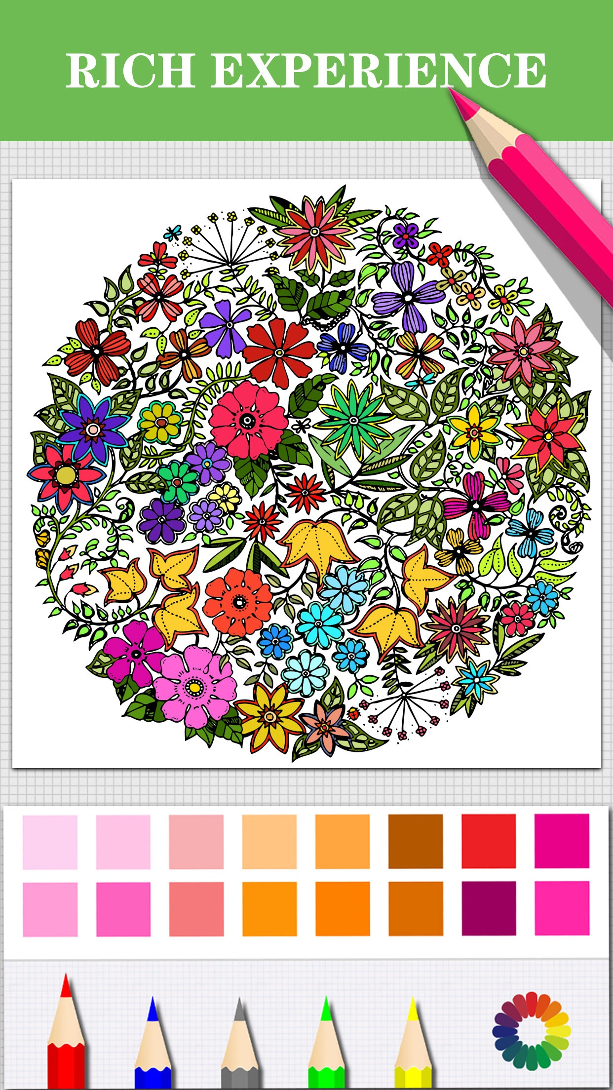 Color.io - Coloring Book & Pigment Page for Adults Screenshot