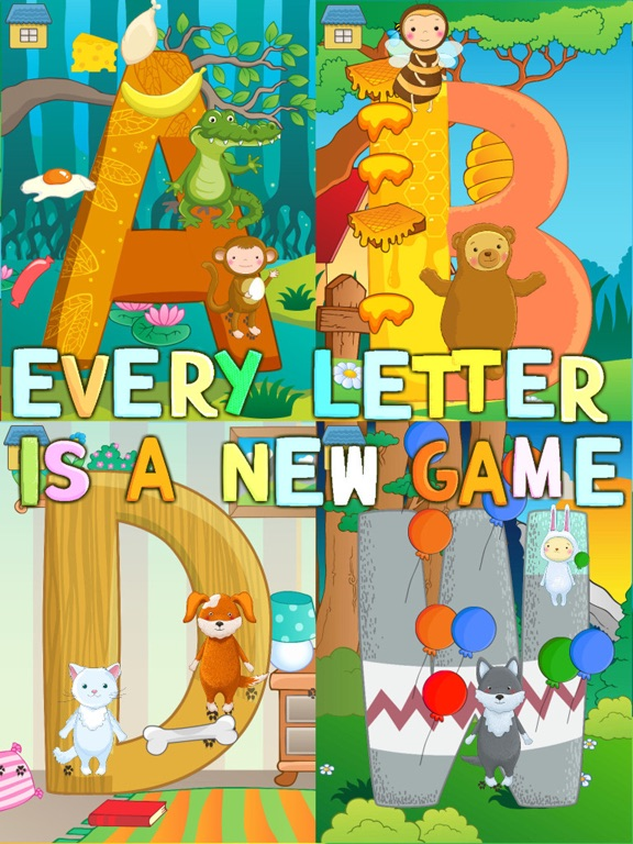 Веселый АНГЛИЙСКИЙ алфавит с забавными животными! на iPad