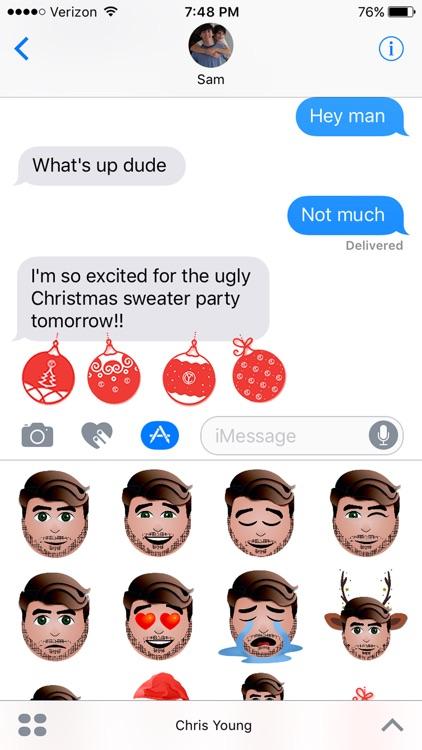Chris Young Holiday Emojis