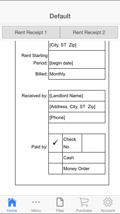 Rent Receipt screenshot-2
