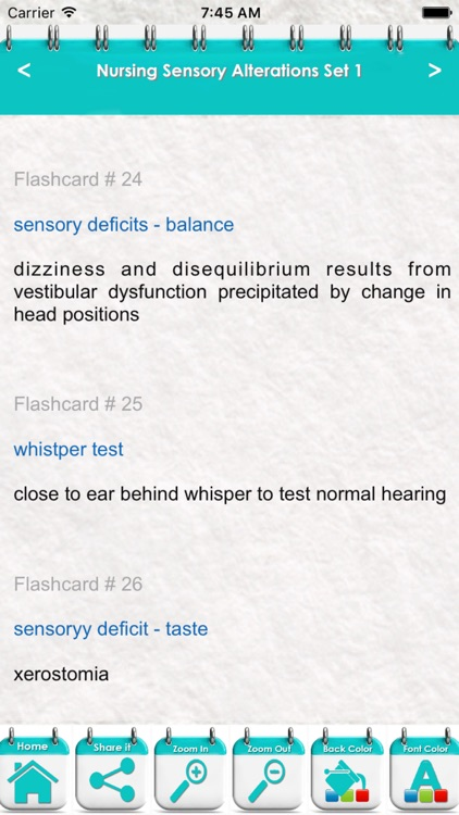 Nursing Sensory Alterations 2000 Exam Study Notes screenshot-3