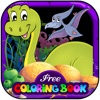 Free Color Book (dinosaur), Coloring Pages & Fun Educational Learning Games For Kids!