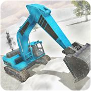 大雪挖掘机模拟器 - 犁卡车救援任务