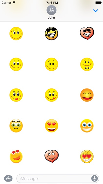 "Happy Smile ""Big Smilies Stickers"" for iMessage screenshot-3"
