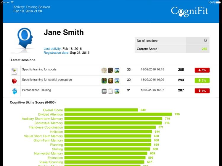 CogniFit Brain Fitness for iPad screenshot-4