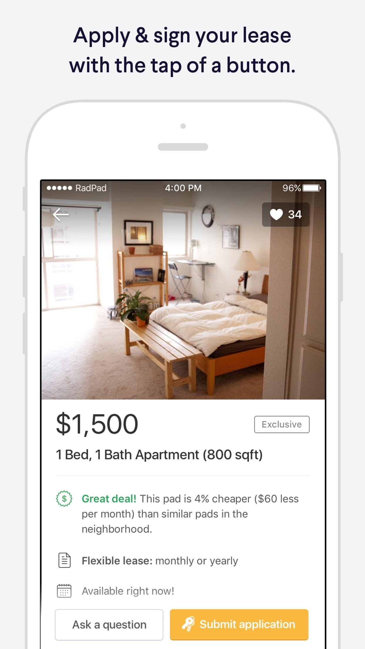 RadPad Apartment Finder: Find & list home rentals Screenshot