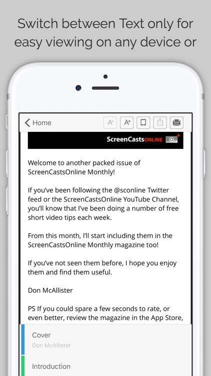 ScreenCastsOnline Magazine