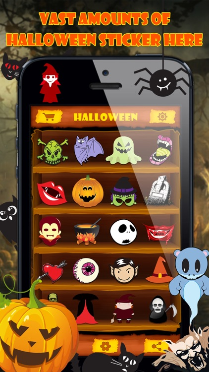 Halloween Emoji Stickers - Face Photo Makeup Games screenshot-2
