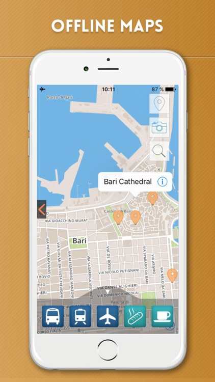 Bari Travel Guide with Offline City Street Map screenshot-4