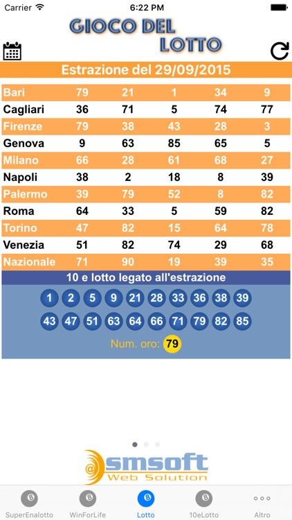 Estrazioni Lotto screenshot-3