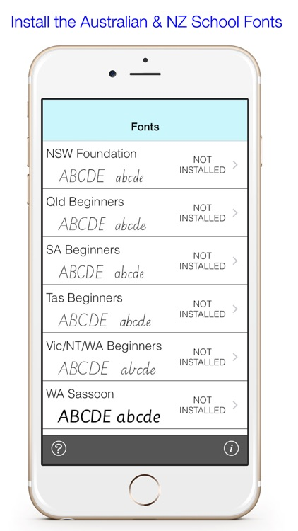 Australian/NZ School Fonts To Install