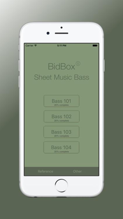 Sheet Music Trainer Bass