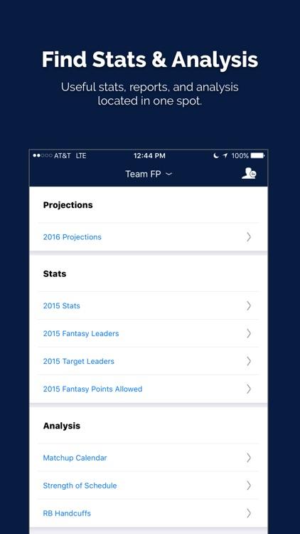 Fantasy Football My Playbook 2017 by FantasyPros screenshot-3