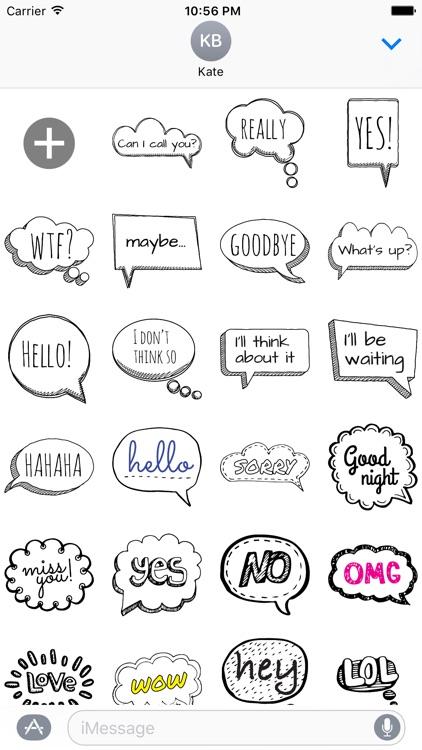 Doodle Bubbles MYOSE - Make Your Own Sticker Emoji screenshot-3