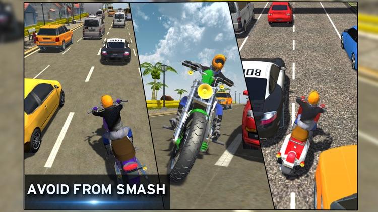 Bike racing Highway Traffic Wheeling 3D master screenshot-3