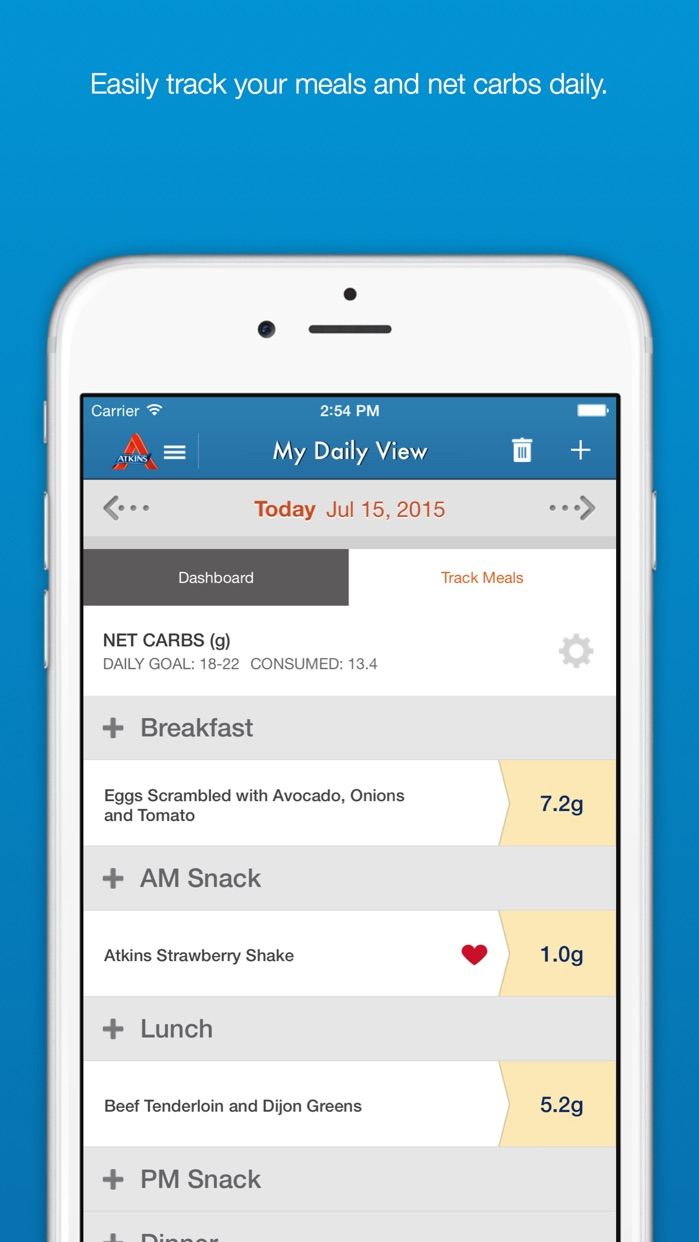 Carb Counter & Diet Tracker by Atkins Screenshot