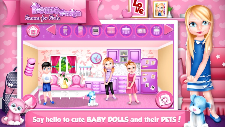 House Design Games for Girls: Decorate Dollhouse.s screenshot-4