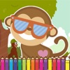 Monkey Coloring Game for Kids Third Edition