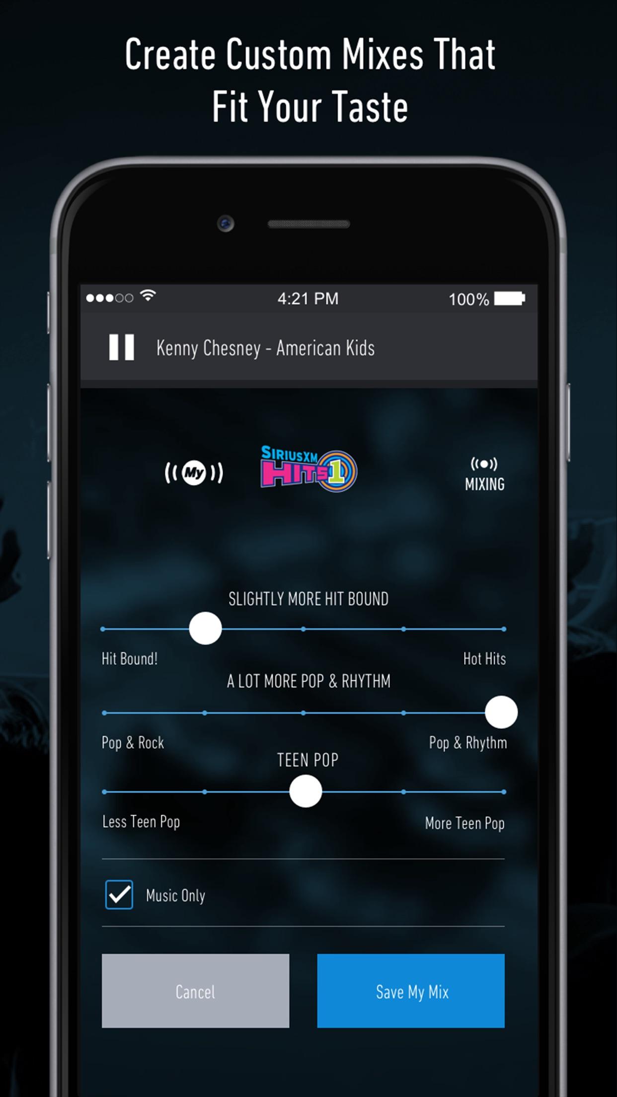 SiriusXM Radio Screenshot