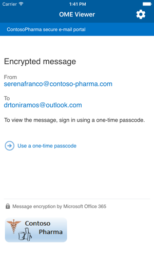 Office 365 Message Encryption Viewer Screenshot