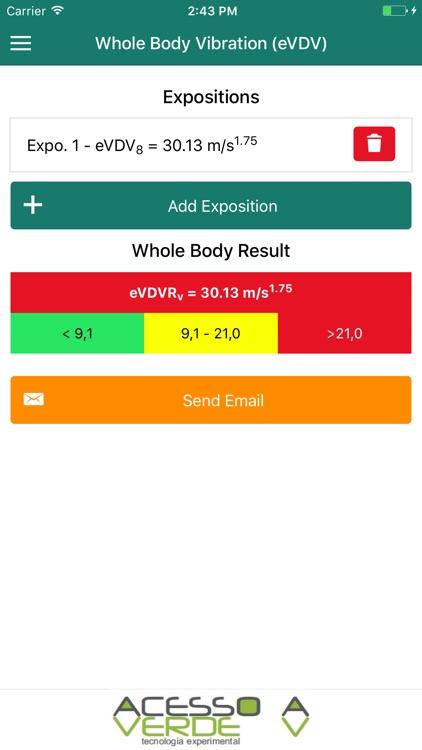 VibAdVisor eVDV: Estimated Vibration Dose Value screenshot-3