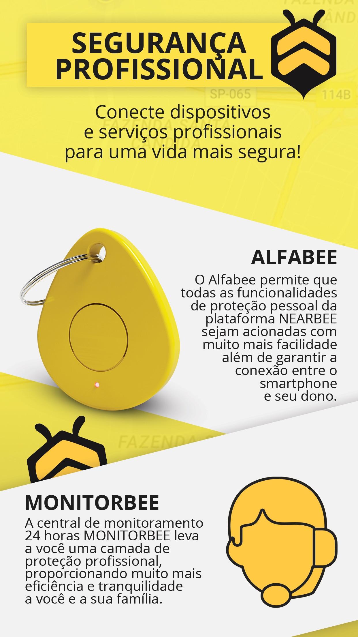 Screenshot do app Nearbee & Alfabee