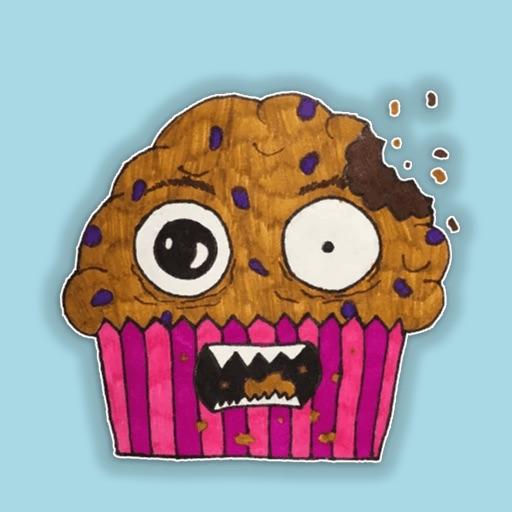 Crazy Muffins Emoji Stickers - for iMessage