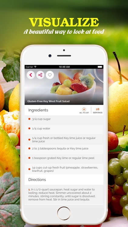 Yummy Fruit Recipes Pro ~ Best of delicious fruit recipes screenshot-1