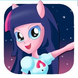 ` Dress up Pony School girls Equestria magic princess make up salon