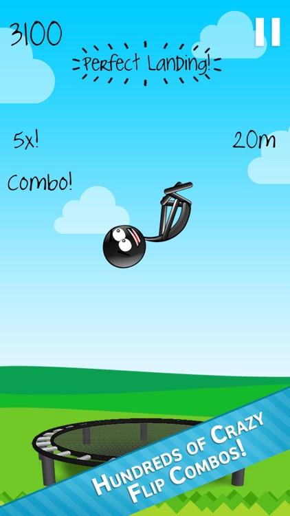 Stickman Trampoline - Backflip & Frontflip Action!