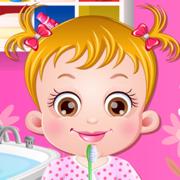 可爱榛果宝贝刷刷牙