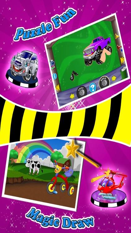 Vehicle Fun - Preschool Games screenshot-3