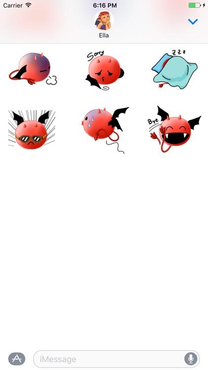 Alfie the Demon Emoji Stickers for Messages screenshot-3