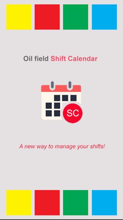Oil Field Shift Calendar